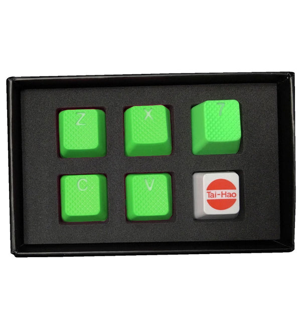 Tai-Hao TPR Rubber Backlit ZXCV Key Set - Neon Green