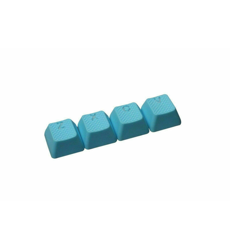 Tai-Hao TPR Rubber Backlit ZXCV Key Set - Neon Blue