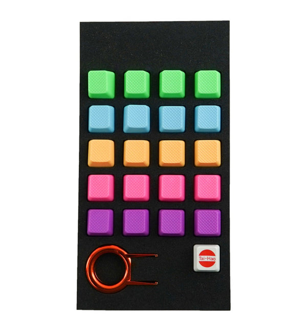 Tai-Hao Blank Rubber 20 Key Set - Rainbow