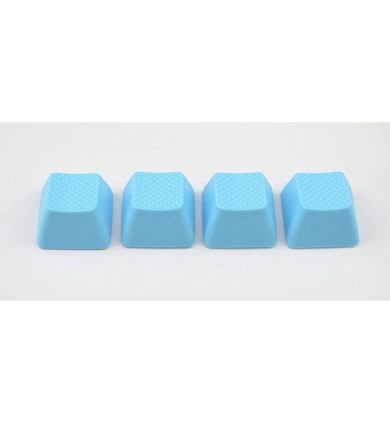 Tai-Hao TPR Rubber Blank 4 Keys Set - Row 1 - Neon Blue