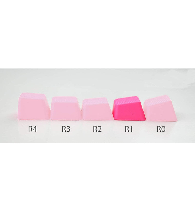 Tai-Hao TPR Rubber Blank 4 Keys Set - Row 1 - Neon Pink