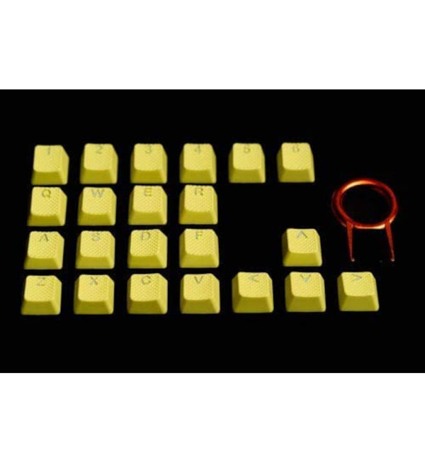 Tai-Hao TPR Rubber DoubleShot Backlit 22 Key Set - Neon Yellow