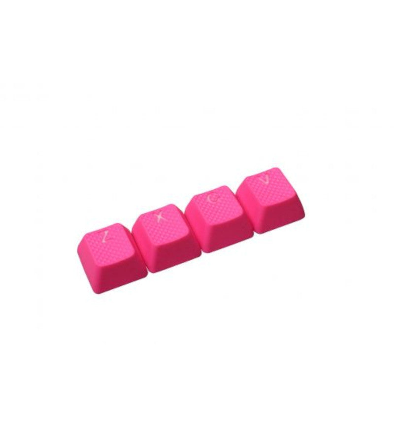 Tai-Hao TPR Rubber Backlit ZXCV Key Set - Neon Pink