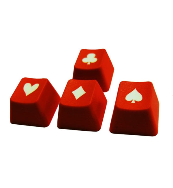 Tai-Hao ABS Double Shot Poker 4 Key Set - Red/White