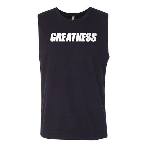 Black Greatness Cut-Off Tee