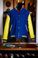 Blue/Yellow Wool Varsity Jacket