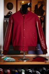 Burgandy Wool Varsity Jacket