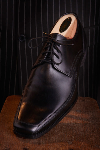 Black Leather Loakes Shoe