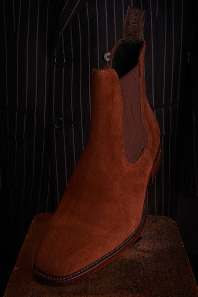 Loakes Mitchum Brown Seude Leather Boot