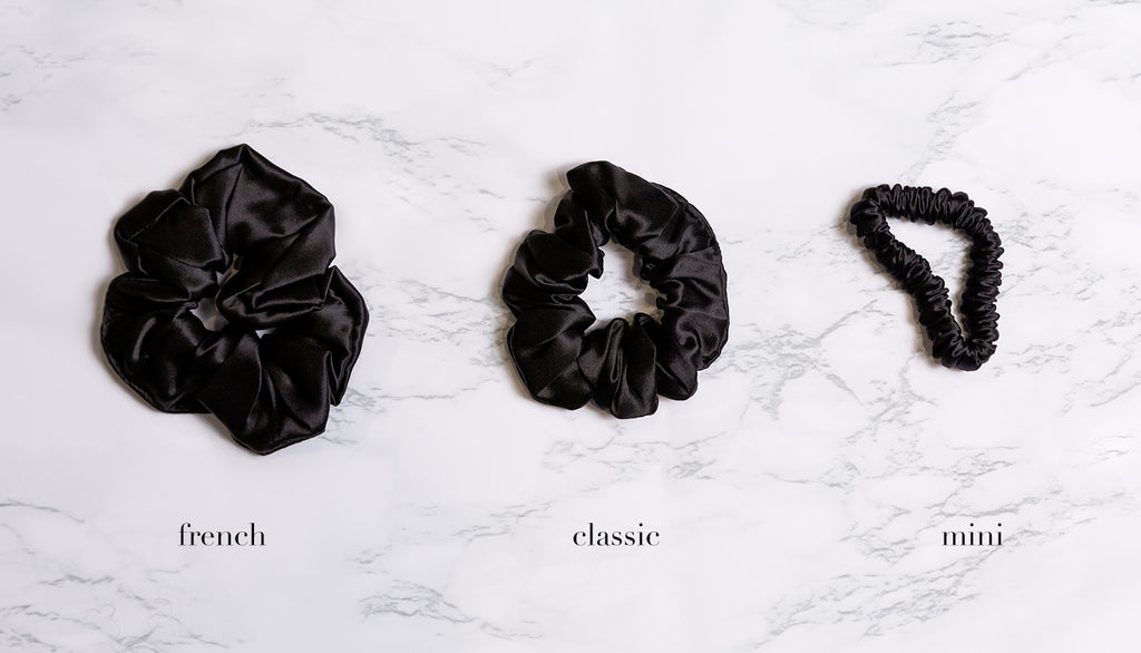 French Mulberry Silk Hair Scrunchies