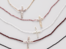 Load image into Gallery viewer, Linny Gem and Cross Necklaces