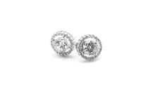 "Load image into Gallery viewer, Round ""Better than Diamonds"" Cubic Zirconia Studs"