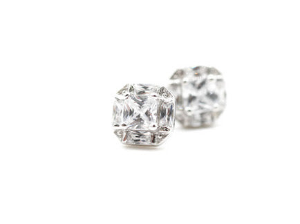 "Square ""Better than Diamonds"" Cubic Zirconia Earrings"