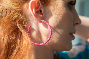 Cleopatra Hoops (Royal Pink)