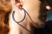 Load image into Gallery viewer, Cleopatra Hoops (Royal Indigo)