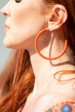 Load image into Gallery viewer, Cleopatra Hoops (Royal Tangerine)
