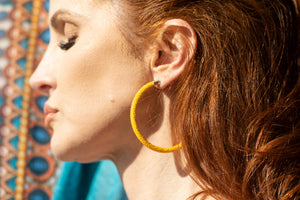 Cleopatra Hoops (Royal Yellow)