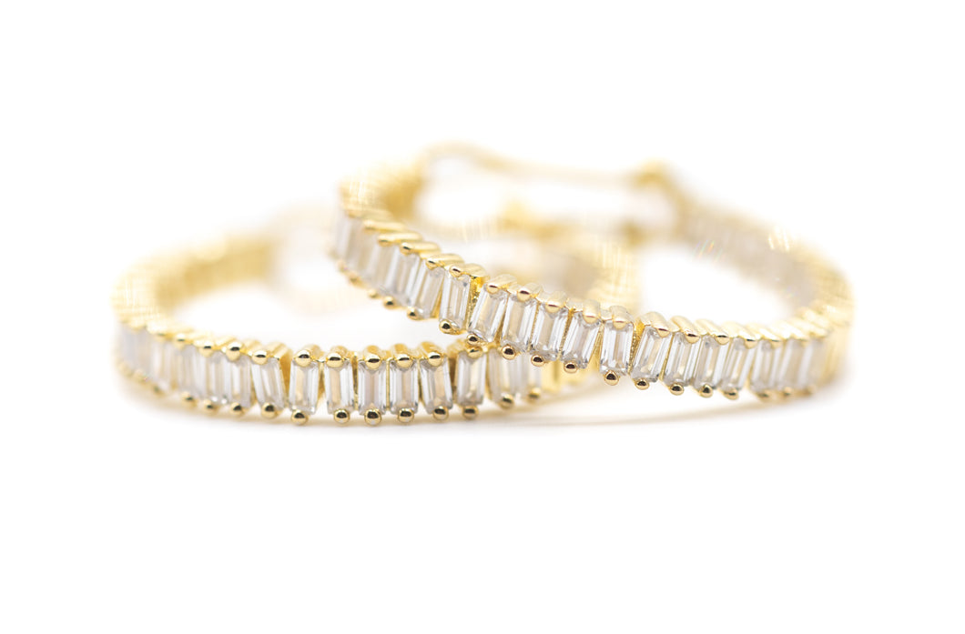 Resolution Hoop Earrings (Silver or Gold)