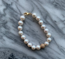 Load image into Gallery viewer, Big D Opal and Pearl Bracelet
