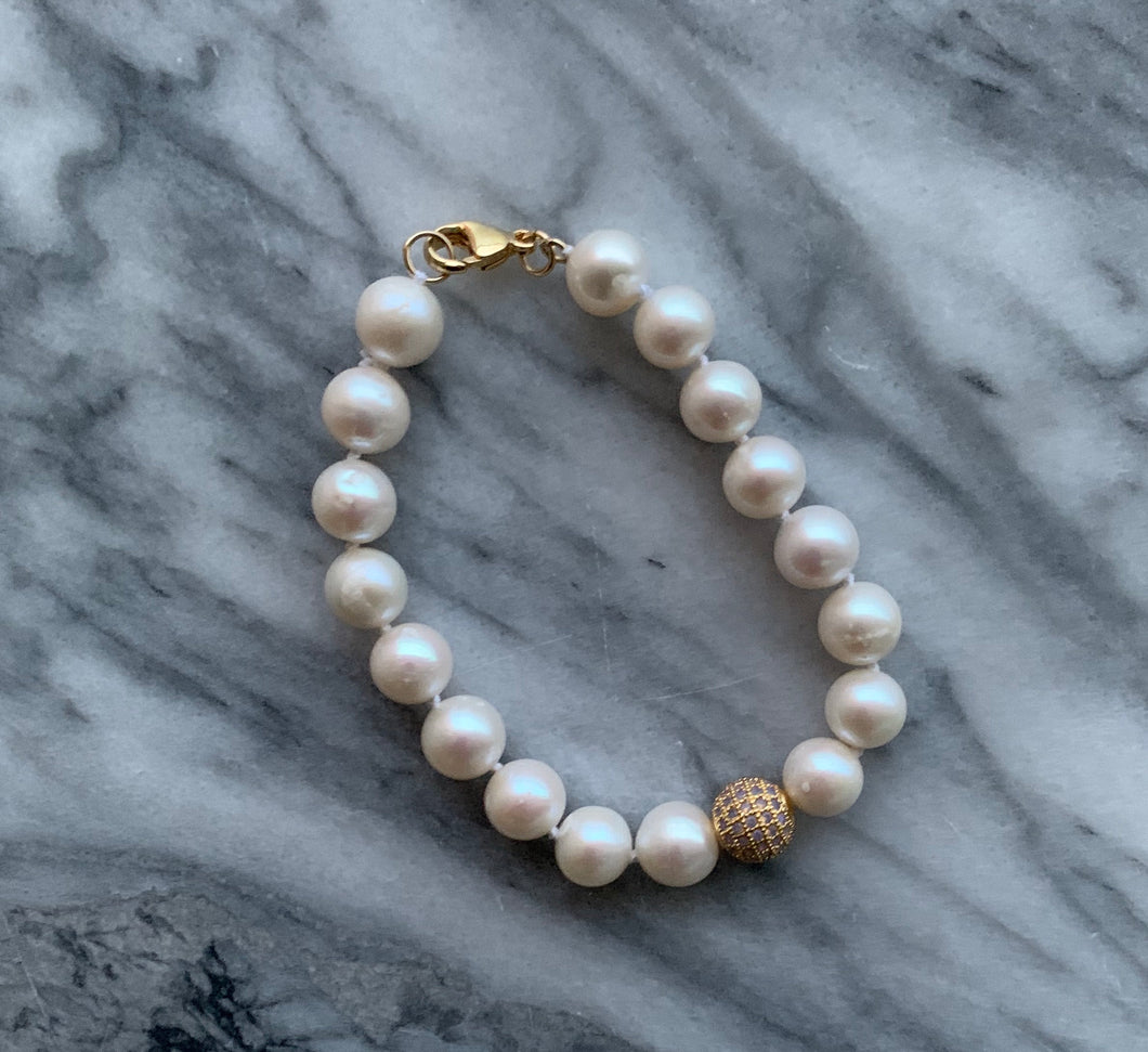 Big D Opal and Pearl Bracelet