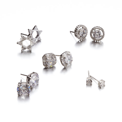 "Solitaire  ""Better than Diamonds"" Cubic Zirconia Earrings"