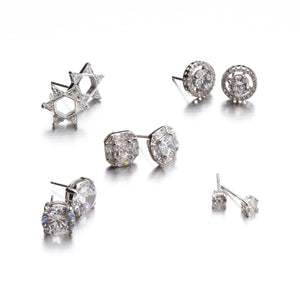 "Solitaire  ""Better than Diamonds"" Cubic Zirconia Earrings (Three Sizes)"