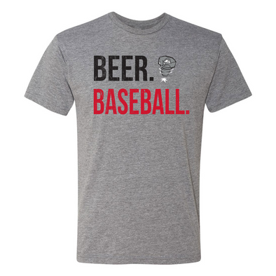 Lansing Lugnuts 108 Stitches Beer and Baseball T-shirt