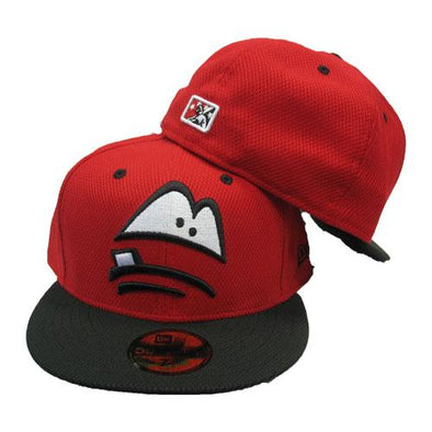 Lansing Lugnuts Official New Era 5950 Batting Practice Cap - Red/Black
