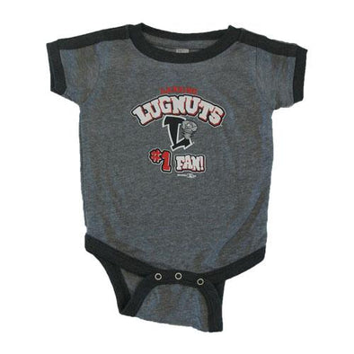 Lansing Lugnuts Infant Ringer Bodysuit - Heather Smoke