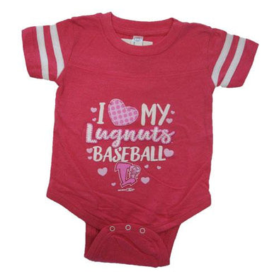 Lansing Lugnuts Infant Girls Sporty Bodysuit - Hot Pink