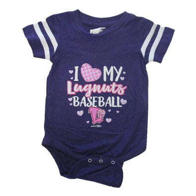 Lansing Lugnuts Infant Girls Sporty Bodysuit - Purple