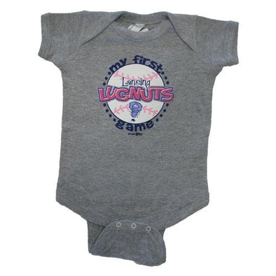 Lansing Lugnuts Infant Girls Lap Shoulder Bodysuit