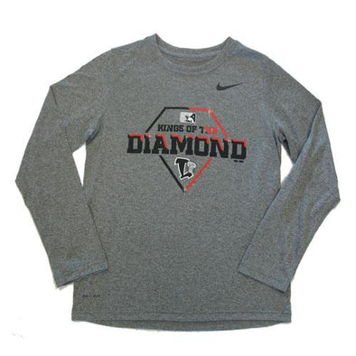 Lansing Lugnuts Nike Youth Dri-Fit L/S T-shirt