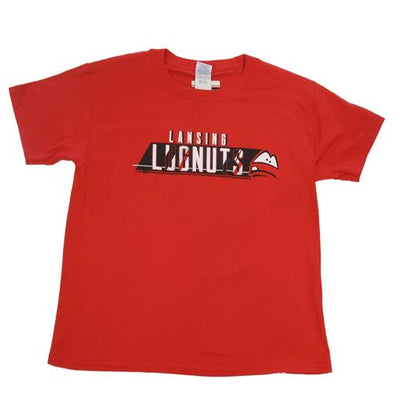 Lansing Lugnuts Kids Red Soft-style Cotton T-shirt