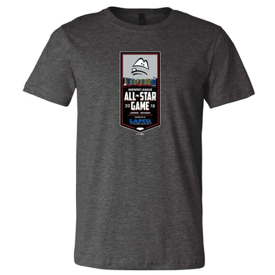 Lansing Lugnuts 2018 MWL All-Star Game Dark Heather Gray T-shirt