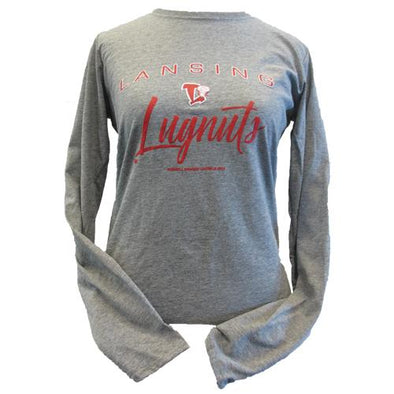 Lansing Lugnuts Ladies Russell Oxford L/S T-shirt
