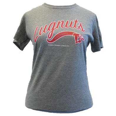Lansing Lugnuts Ladies Russell T-shirt - Oxford Gray