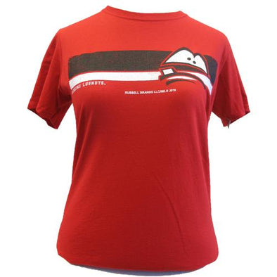 Lansing Lugnuts Ladies Russell T-shirt - Red
