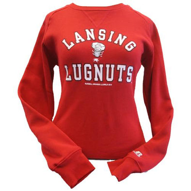 Lansing Lugnuts Ladies Russell Fleece Crew