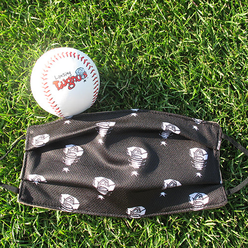 Lansing Lugnuts Black w/Luggy Adult Sublimated Face Mask