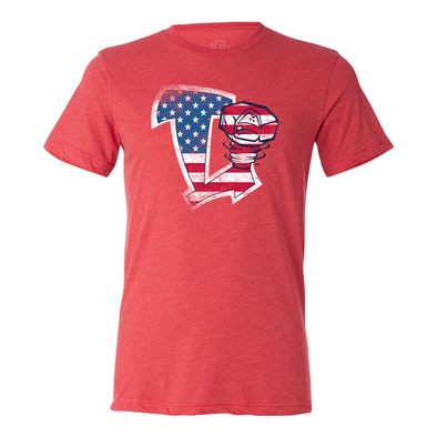 Lansing Lugnuts 108 Stitches Patriotic T-shirt