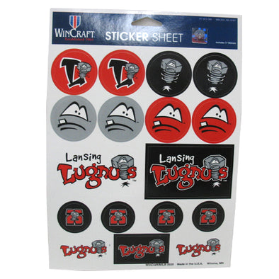 "Lansing Lugnuts 5"" x 7"" Sticker Sheet"