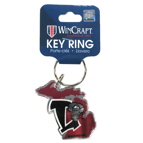 Lansing Lugnuts Metallic Michigan Key Ring