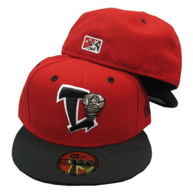 Lansing Lugnuts Official New Era 5950 Home Cap - Red/Black