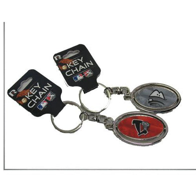 Lansing Lugnuts Metal Oval Spinner Key Chain