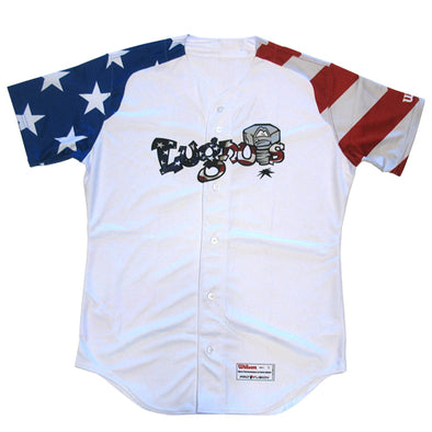 Lansing Lugnuts Official Patriotic Jersey