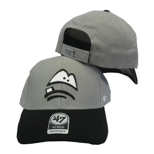 Lansing Lugnuts MVP Road Adjustable Hat - Gray/Black