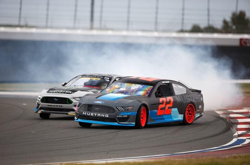 Formula DRIFT Champion Vaughn Gittin Jr. Welcomes NASCAR Champion Joey Logano to the Mustang Family