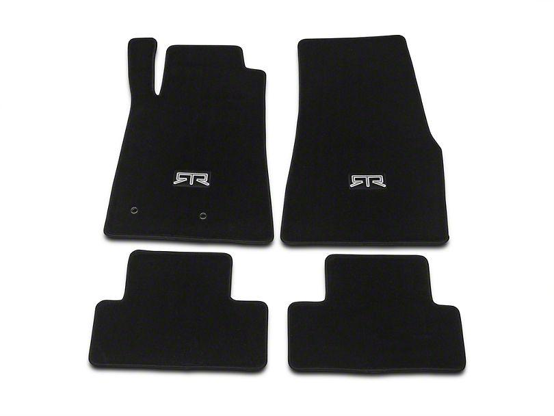 RTR Front and Rear Floor Mats with RTR Logo; Black (05-10 All) - RTR Vehicles
