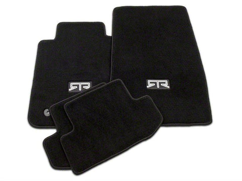 RTR Front & Rear Floor Mats w/ RTR Logo - Black (15-19 All Models)